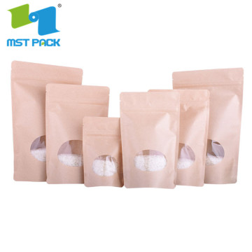 printed three side sealing waterproof clear paper  pe zipper bag