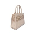 Stylish Hollow-Carved Design Women's Leather Tote Bag