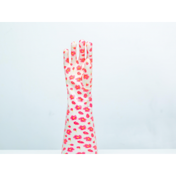 Colourful pvc household gloves
