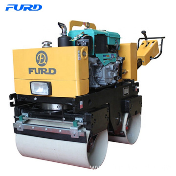 Double Drum Manual Vibrating Road Roller for Soil Compaction