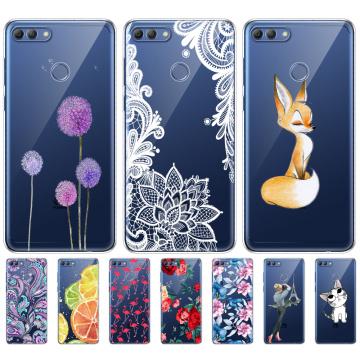 Soft Phone Shell Case For Huawei P Smart 2018 Enjoy 7S Soft TPU Silicon Back Cover 360 Full Protective Printing Transparent Bag