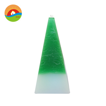 Christmas multi color pillar led wax custom candles