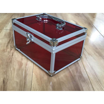Aluminum Makeup Box/Case for Promotions with Tray