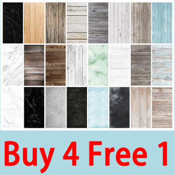 Marble Wood Grain Photography Backdrops Paper 57*87 CM Background for Photo Studio Shoot Photocall Props Christmas[Buy 4 Free 1]