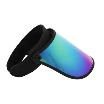 PC visor rainbow transparent uv protection visor hat