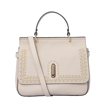 Saffiano Leather Tote Medium Top-handle Bag Beige
