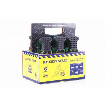 GS Approved 12'Ratchet Lashing Belts With 360Kgs