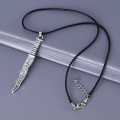 20pcs/lot Fashion Jewelry New Snow White Once Upon A Time Rumpelstiltskin Dagger Pendant Necklace,original factory supply