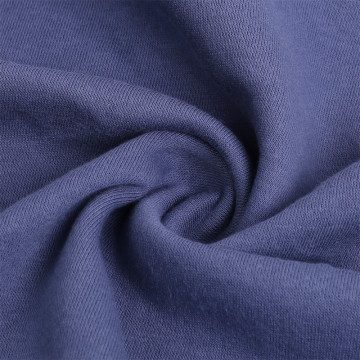 100% Polyester Terry Sweater Solid Fleece Knitted Fabrics