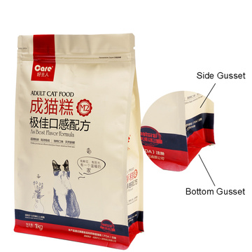 1kg Bag Zippered Pouch Dog Food Packaging