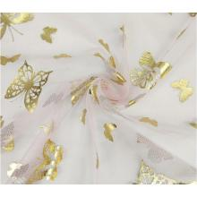 Cute animal design foil tulle fabric for decoration