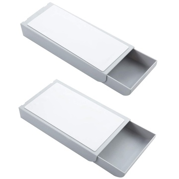 2 Pcs Desk Pencil Drawer Organizer Self-Adhesive Drawer Pencil Tray Desktop Drawer Tray Under the Table Drawer Organizer