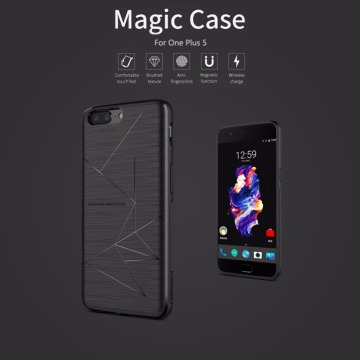 for Oneplus 5 One Plus 5 Nillkin Qi Wireless Charging Receiver Charger Case Accessories Back Shell Cover Charging Magic Case