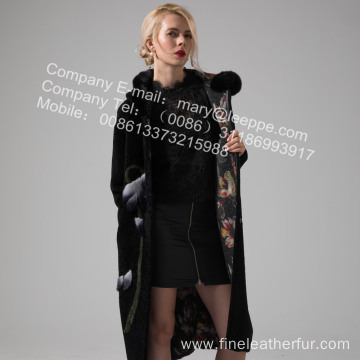Reversible Lady Australia Merino Shearling Coat