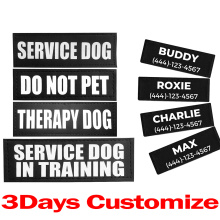 Pet Service Dog In Training SECURITY PATCH Therapy Dog DO NOT PET Customized Patches for DOG PET Harness Vest