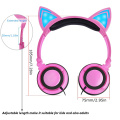 LED Light Up Cat Headphone For Kids Headsets