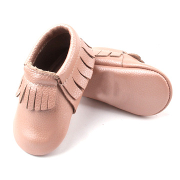 Soft Leather Infant baby Moccasins Crib Shoes Newborn