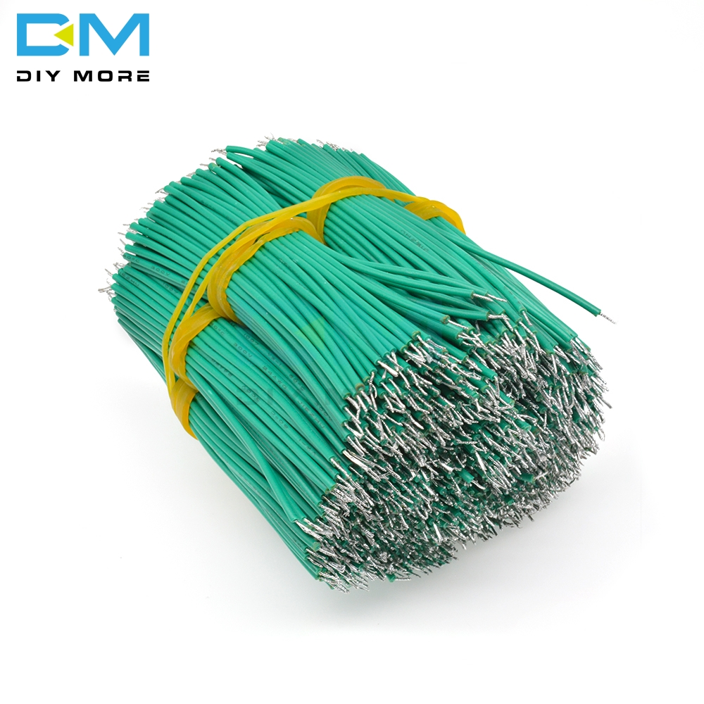 100PCS 24AWG 8CM Tin-Plated Breadboard PCB Solder Cable Fly Jumper Wire Cable Tin Conductor Wires 1007-24AWG Electrical Cable