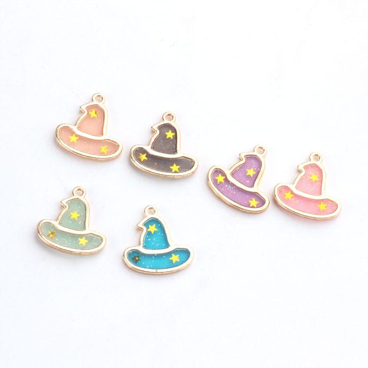10pcs/lot 19*20mm Halloween hat Pumpkin Enamel Charms Braclets Jewelry finding DIY Craft more fashion