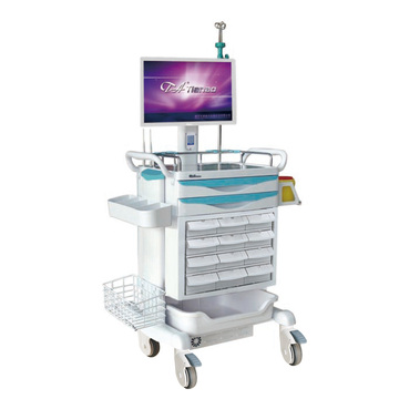 Mobile Nurse Workstation with Keyless Entry System