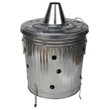 35L Burn Trash Can for Street or Garden