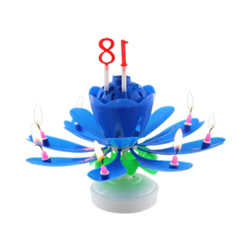 Cheap Wax Wholesale Happy Musical Flower Candle Party