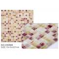 Opaque Ice series mixed color glass mosaic tiles
