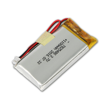 High Temperature Resistant 782548 3.7V 1100mAh Lipo Battery