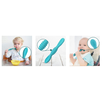 Custom Silicone Baby Led Weaning Spoon