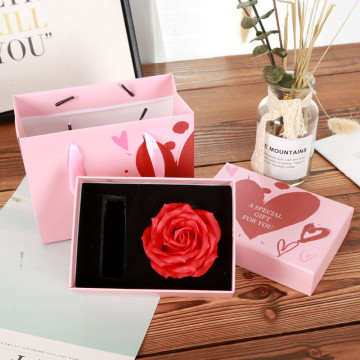 Preserved Flower Packaging Lipstick Gift Boxes with Lid