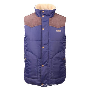 Blue with khaki winter Vest