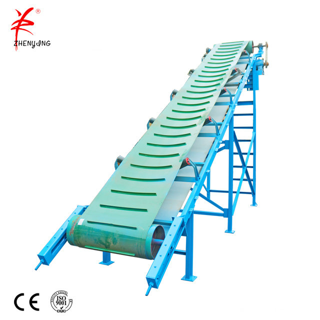 Carbon steel mobile quartz sand belt conveyor