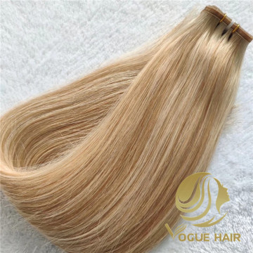 Flat weft hair extension with wholesale price