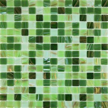Gold line Grass green Mixed green modern tiles