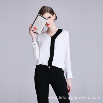 Women Office Loose Striped Blouses/Top