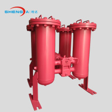 Duplex inline oil filter housing welded type