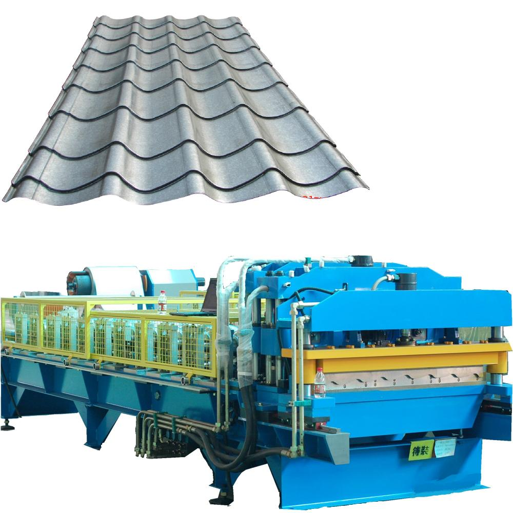 Metal color glazed tile making machine