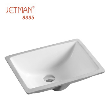 under counter basin rectangular bathroom sink ceramic