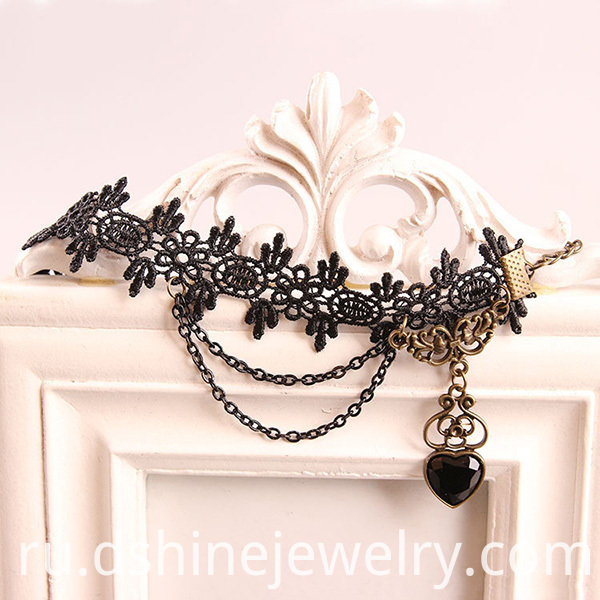 Lady Black Lace Anklets