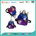 purple and blue unicorn sequin backpack
