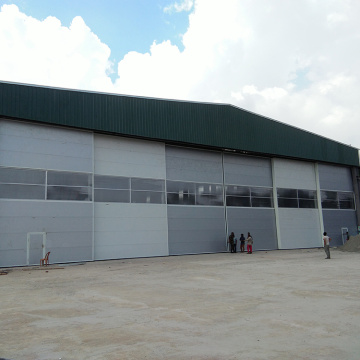 Rapid oversized folding up door for mining
