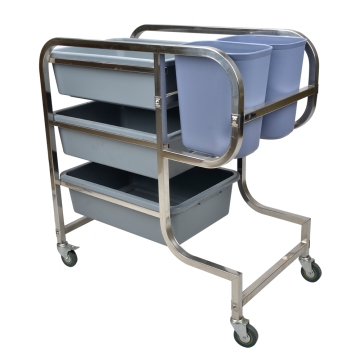 Stainless Steel Square Tube Collecting Cart