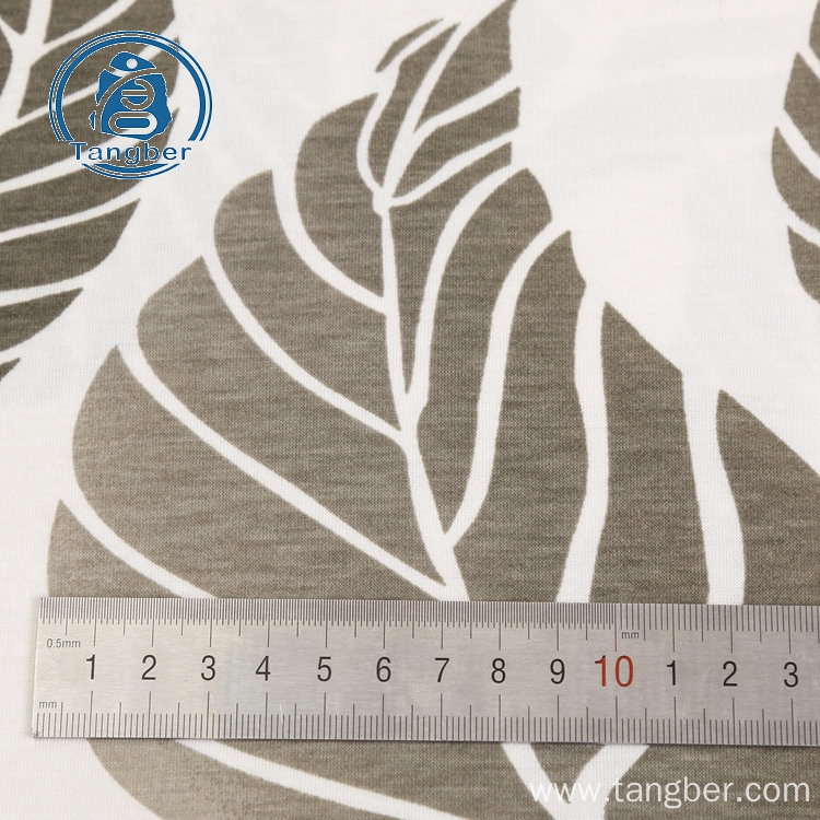 Knit polyester cotton printed jersey fabric for shirt