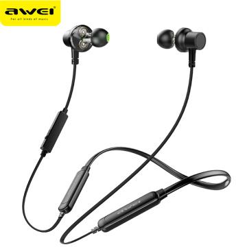 AWEI G20BLS/G20BL/G30BL Wireless Bluetooth Earphone Headphones With Microphone Dual Driver Noise Cancel Sport Headset 3D Bass