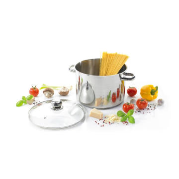 Stainless Steel Stock Pot with Hollow Handles