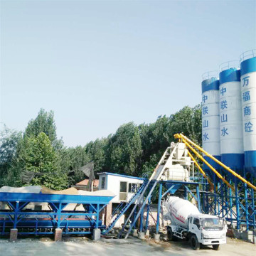 HZS 25 hopper lift concrete batching plant