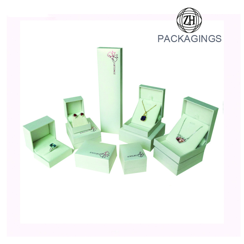 Custom white jewellery ring ring display box