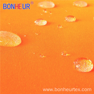 Fluorescent Yellow Orange Satin Polyester and Cotton Fabric