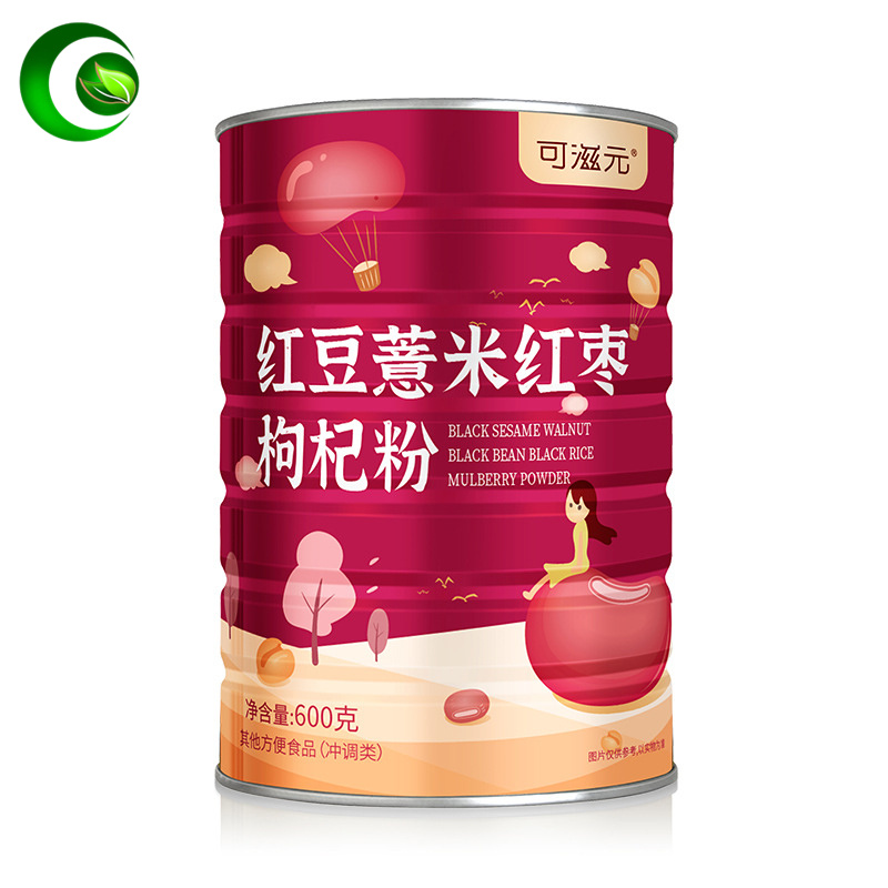 Red Beans, Barley, Red Dates, Wolfberry and Barley Powder, Meal Replacement Powder Meal Replacement Porridge Canned Instant Food