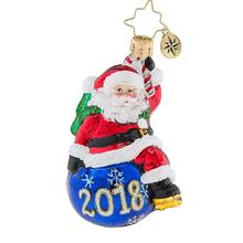 2019 Personalised Christmas Santa Claus Glass Ornaments